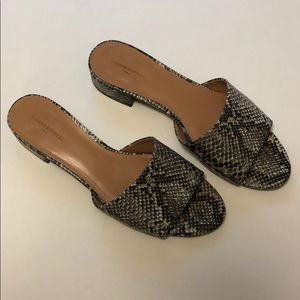 Banana Republic Snakeskin Slide Sandals